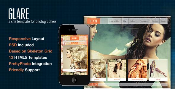 Glare - Photography Portfolio Site Template Creative