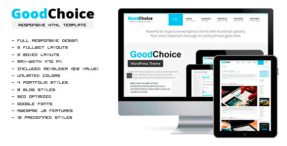GoodChoice Responsive HTML Template Corporate