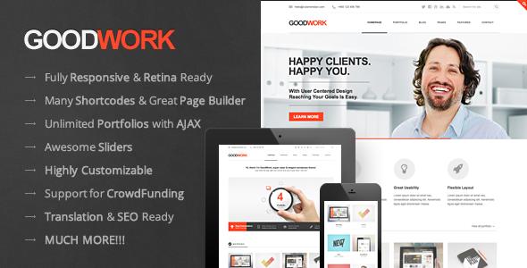 GoodWork - Modern Multi-Purpose Responsive Theme WordPress