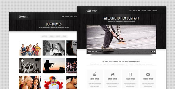 Goodways - Entertainment and Film HTML Template Entertainment