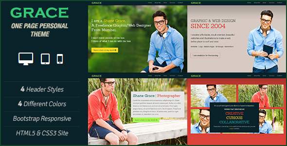 Grace - One Page Personal Theme Template Personal