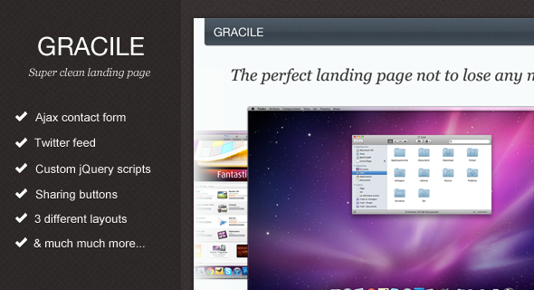 Gracile - Super Clean Landing Page