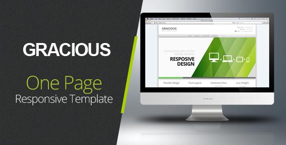 Gracious - Ajaxified HTML Template Creative