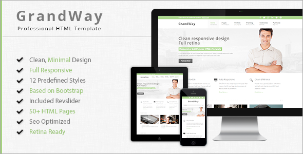 GrandWay - Responsive HTML5/CSS3 Template Corporate