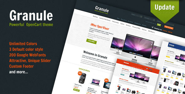 Granule - powerful OpenCart theme Shopping