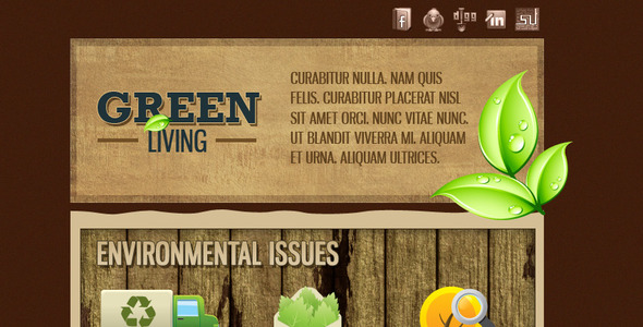 Green Environment HTML Email Template (3 Themes) EmailTemplates