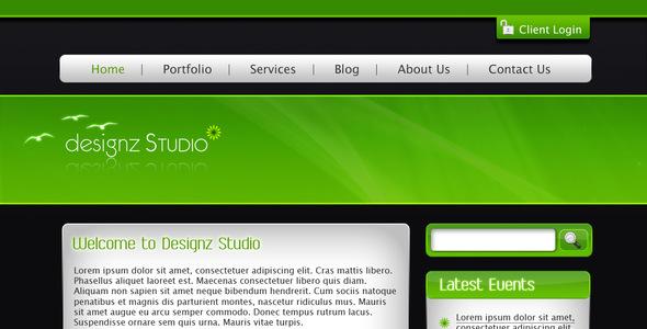 Green & Dark Business Template