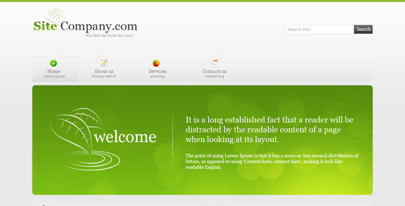 Green Color Company Corporate PSDTemplates
