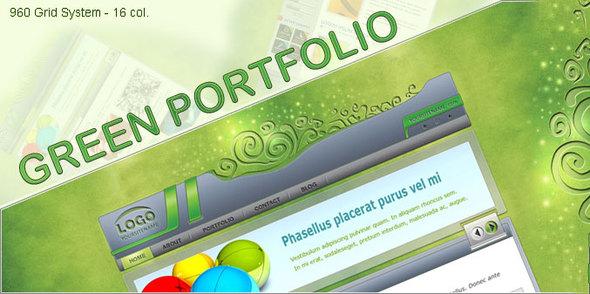 Green Portfolio Creative PSDTemplates