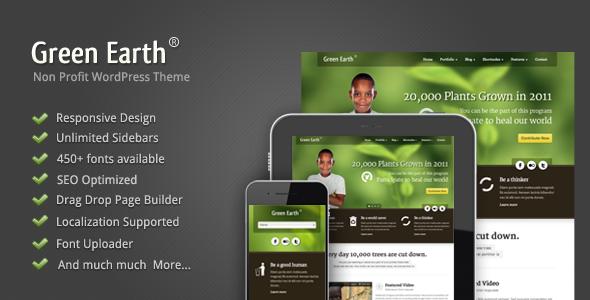Green Earth - Environmental WordPress Theme Nonprofit