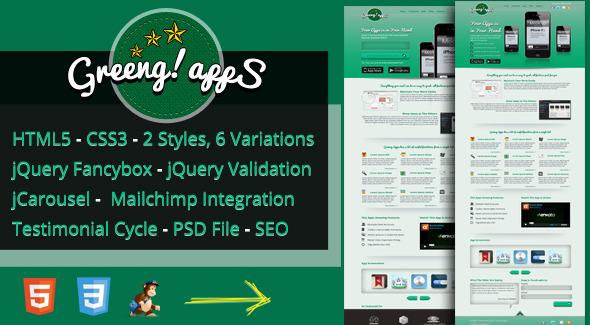 Greeng Apps Landing Page LandingPages Landing Page