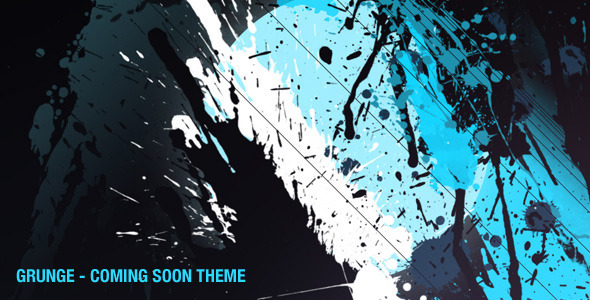 Grunge - Coming Soon Page Template Specialty Page