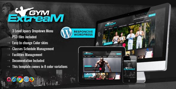 Gym Extream - Gym and Fitness Wordpress Theme Retail
