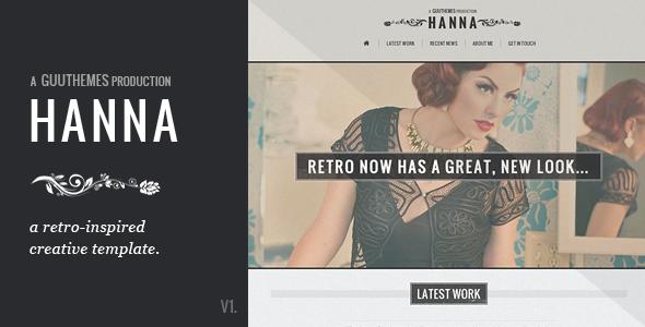 HANNA - Responsive Retro HTML5/CSS3 Template Creative