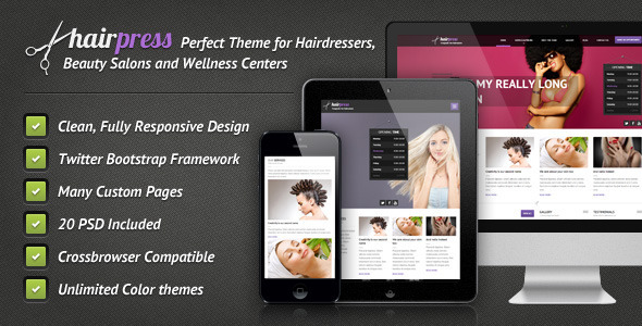 Hairpress - HTML Template for Hair Salons Retail
