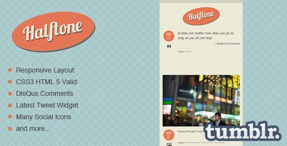 Halftone - Tumblr Theme Tumblr Blogging