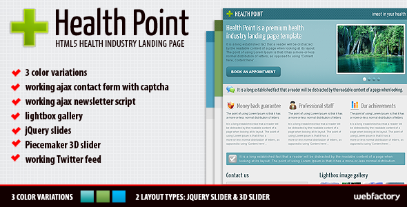Health Point - Health Industry Landing Page LandingPages Landing Page