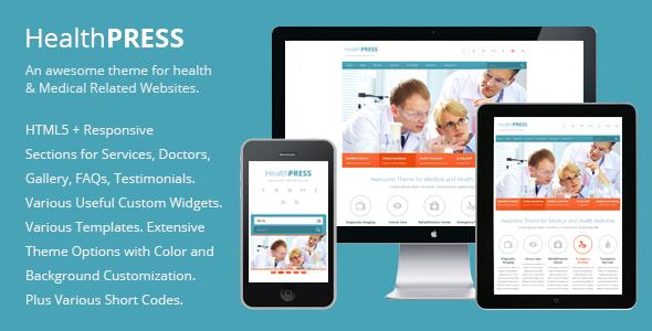 HealthPress - Health and Medical WordPress Theme Retail