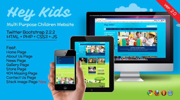 Hey Kids - Responsive Multipurpose Children Web Template