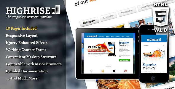 Highrise Responsive Business Template Corporate