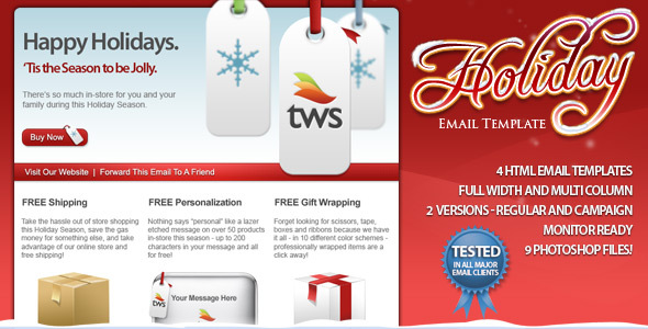 Holiday HTML Email Template