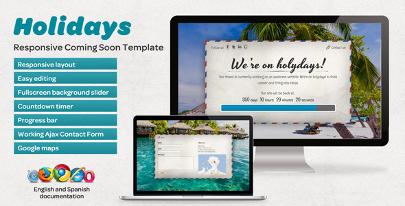 Holidays - Responsive Coming Soon Template Specialty Page
