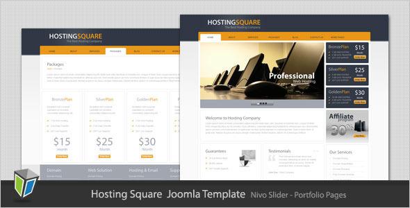 Hosting Square - Web Hosting Joomla Template Technology