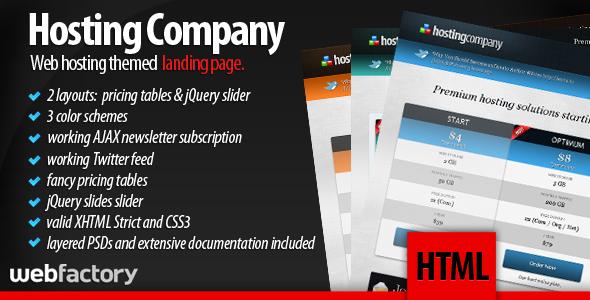 Hosting Company Landing Page LandingPages Landing Page