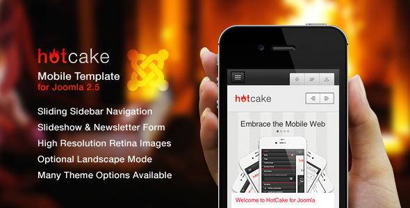 HotCake for Joomla — Retina Mobile Template