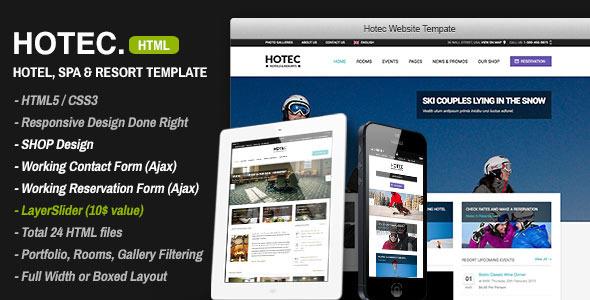 Hotec - Responsive Hotel, Spa & Resort Template Retail