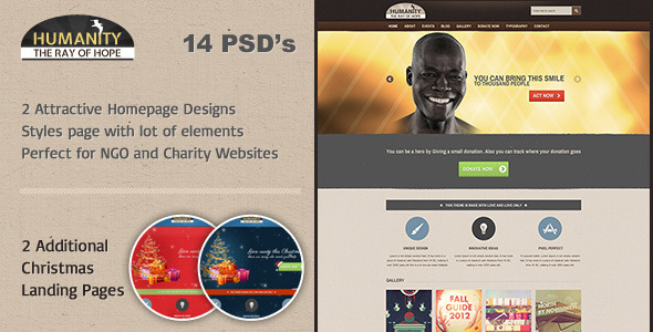 Humanity - Church / Non - Profit PSD Template Nonprofit