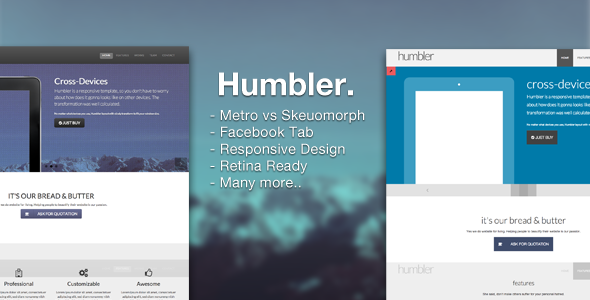 Humbler - Retina Responsive Dual Design Template Corporate