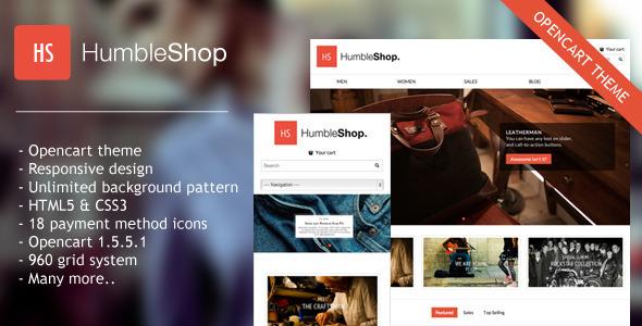 Humbleshop Minimal Opencart Theme