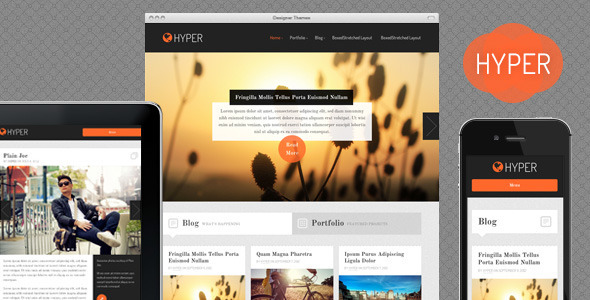 Hyper, a Responsive WordPress Theme Blog/Magazine