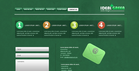 IDEAL GREEN CLEAN AND CORPORATE TEMPLATE! Creative PSDTemplates