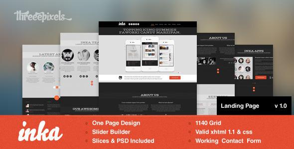 INKA - Retro Flavor Landing Page LandingPages Landing Page