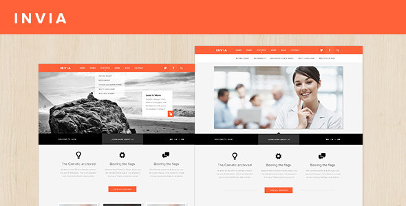 INVIA Corporate Site Template Corporate