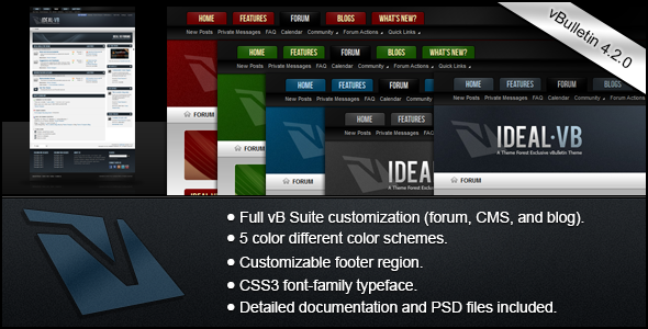 Ideal - A vBulletin 4 Suite Theme Forums vBulletin
