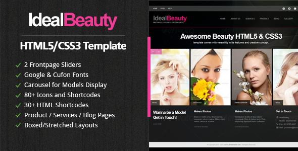 IdealBeauty HTML5 Template Retail