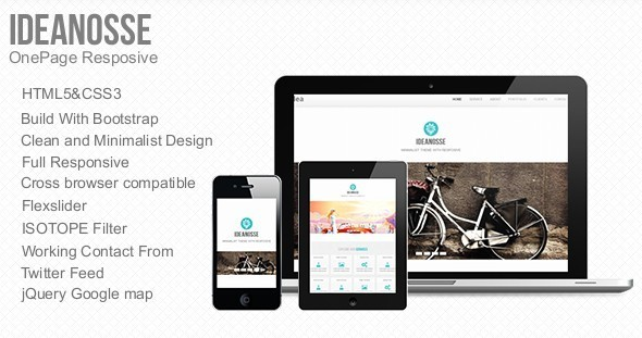Ideanosse - Responsive One Page Template Corporate