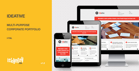 Ideative - Multi-purpose corporate portfolio HTML Template