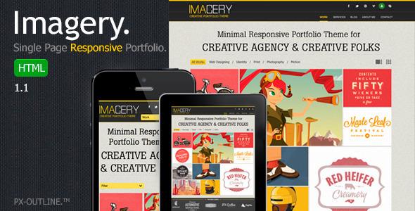 Imagery - Single Page Responsive Portfolio Template Creative