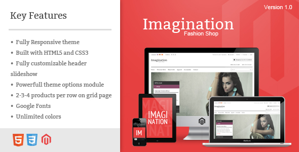 Imagination - Responsive Magento Theme