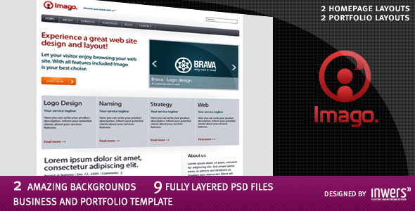 Imago - Business and Portfolio Template Corporate PSDTemplates