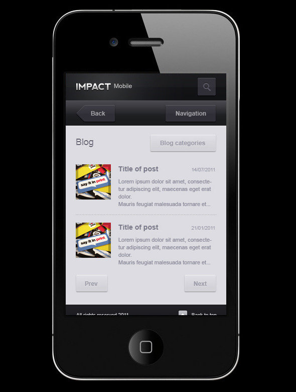 Impact Mobile Creative PSDTemplates