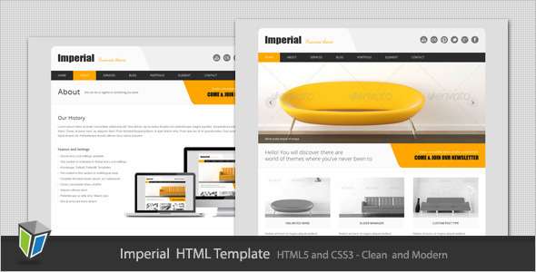 Imperial - Corporate Business HTML Template Corporate