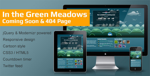In the Green Meadows - Coming Soon & 404 Page Template