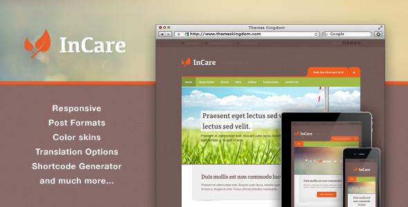 InCare - Responsive Eco/NonProfit WordPress Theme Nonprofit
