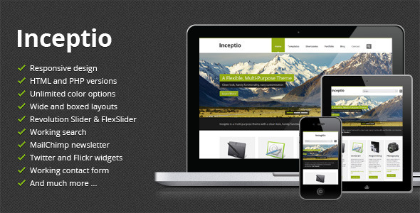 Inceptio - Responsive Multi-Purpose HTML Template Corporate