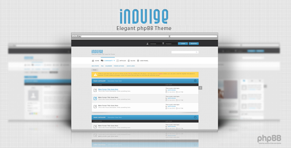 Indulge - Clean phpbb theme Forums PhpBB